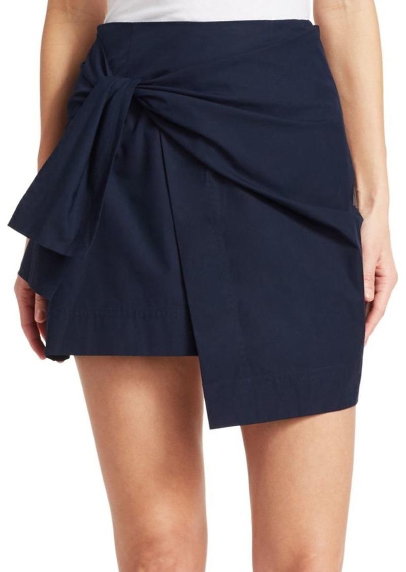 Derek Lam Tie Mini Wrap Skirt