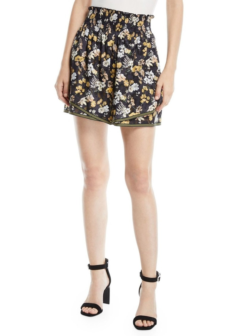 Derek Lam Tiered Floral-Print Silk Cami Skirt