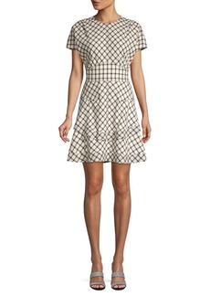 Derek Lam Tiered Plaid Dress