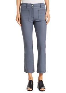 Derek Lam Top-Stitched Crop Flare Jeans