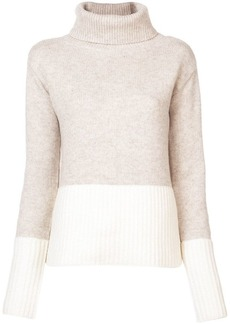 Derek Lam Turtleneck Sweater with Contrast Rib Detail