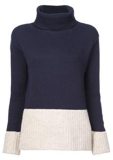 Derek Lam Turtleneck Sweater with Contrast Rib Detail