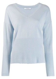 Derek Lam Twilight Wool Cashmere Wooster V-Neck Sweater