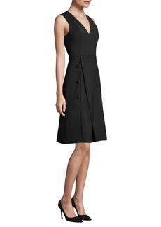 Derek Lam V-Neck A-Line Dress