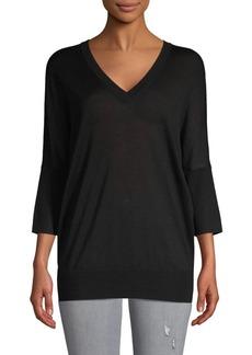 Derek Lam V-Neck Cashmere & Silk-Blend Sweater
