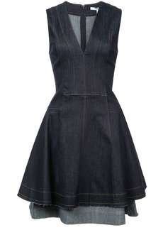 Derek Lam V-Neck Fit & Flare Dress