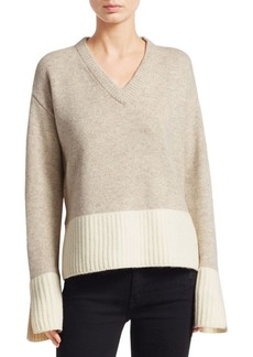 Derek Lam V-Neck Wool-Blend Sweater