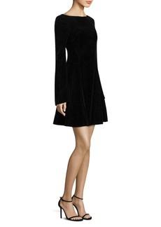 Derek Lam Velvet Lace-Up Mini Dress