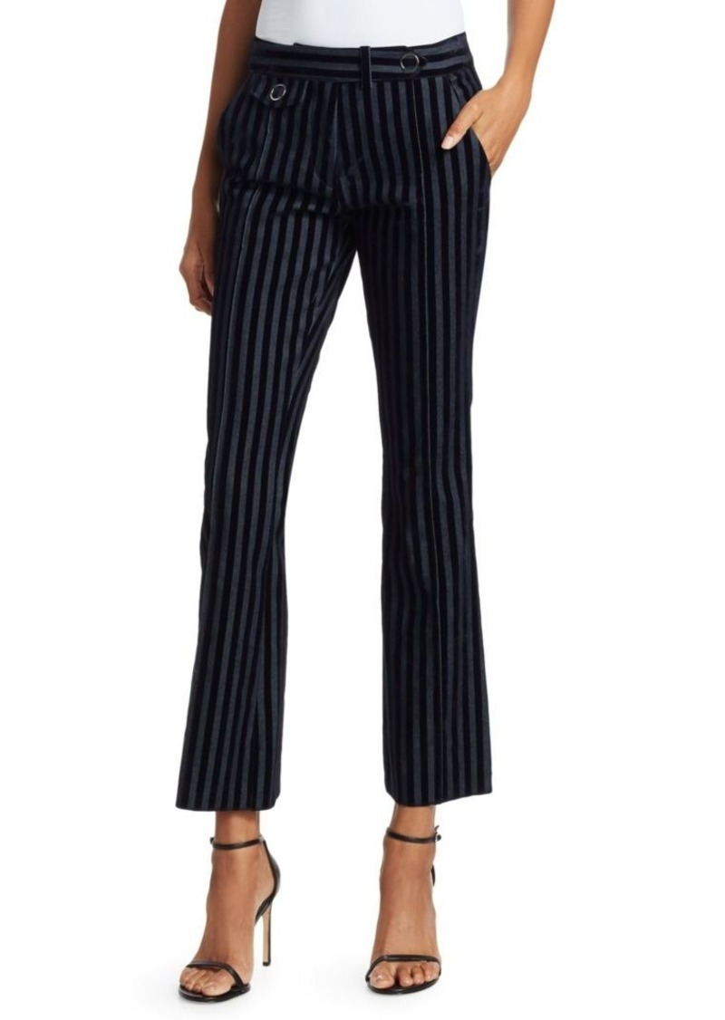 Derek Lam Velvet Stripe Cropped Trousers