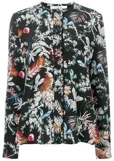 Derek Lam wallpaper floral print blouse
