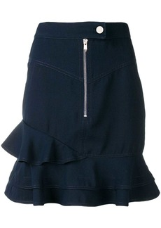 Derek Lam washed canvas ruffle skirt