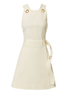Derek Lam White Twill Grommet Mini Dress