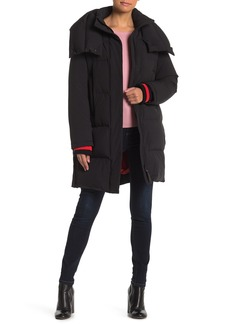 Derek Lam Wide Collar Puffy Zip Down Jacket
