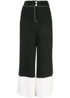 Derek Lam Wide Leg Culotte with Contrast Cuff