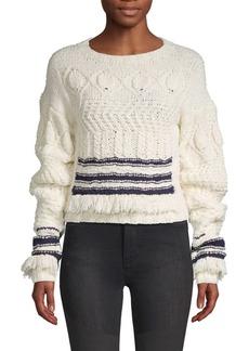 Derek Lam Wool & Silk Fringe-Trimmed Sweater