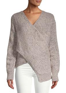 Derek Lam Wool-Blend Crossover Sweater