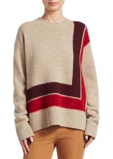 Derek Lam Wool High-Low Blanket Sweater
