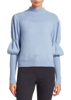 Derek Lam Wool Puff-Sleeve Sweater