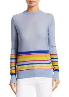 Derek Lam Wool, Silk & Cashmere Striped Sweater
