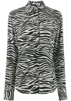 Derek Lam zebra print button down shirt