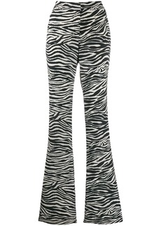 Derek Lam zebra print flared trousers