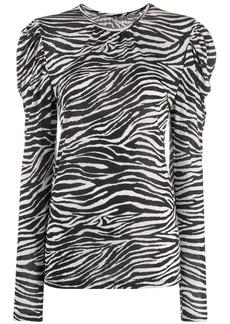 Derek Lam zebra print puff shoulder sweater