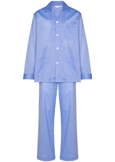 Derek Rose buttoned straight-leg pyjama set