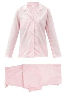 Derek Rose Amalfi piped cotton-poplin pyjamas