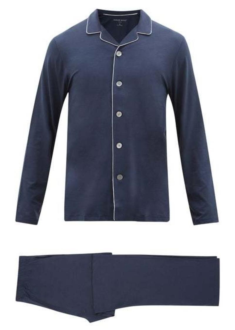 Derek Rose Basel piped-trim modal pyjamas