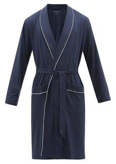 Derek Rose Basel piped-trim modal robe