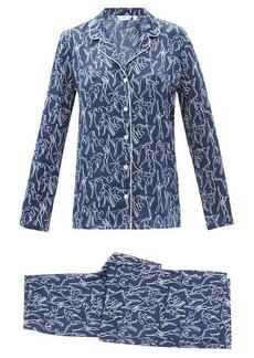 Derek Rose Brindisi abstract-print silk pyjamas
