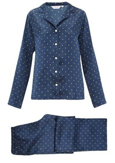 Derek Rose Brindisi star-print silk-charmeuse pyjamas