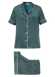 Derek Rose Brindisi striped silk-satin pyjamas