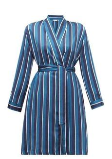 Derek Rose Brindisi striped silk-satin robe