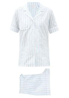 Derek Rose Capri striped cotton pyjamas
