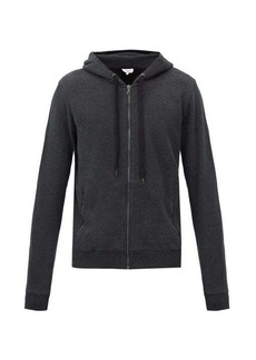 Derek Rose Devon zipped cotton-jersey hooded sweatshirt