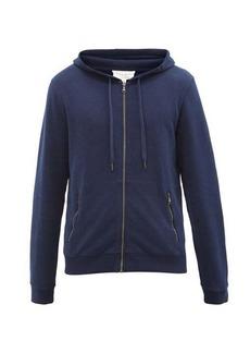 Derek Rose Devon zipped cotton-jersey hooded sweatshirt