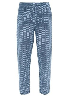 Derek Rose Geometric-pattern cotton-poplin pyjama trousers