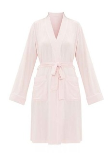 Derek Rose Lara piped-jersey robe