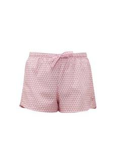 Derek Rose Ledbury 27 geometric-printed cotton pyjama shorts