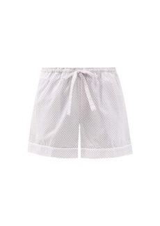 Derek Rose Ledbury 40 geometric-print cotton pyjama shorts