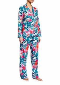 Derek Rose Ledbury 44 Tropical Floral-Print Pajama Set