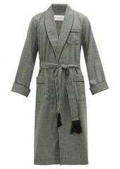 Derek Rose Lincoln houndstooth-check wool robe