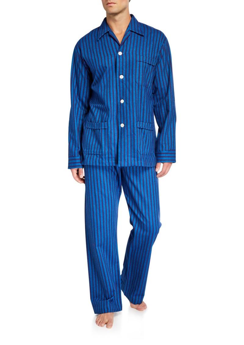 Derek Rose Men's Arctic 19 Striped Classic Pajamas