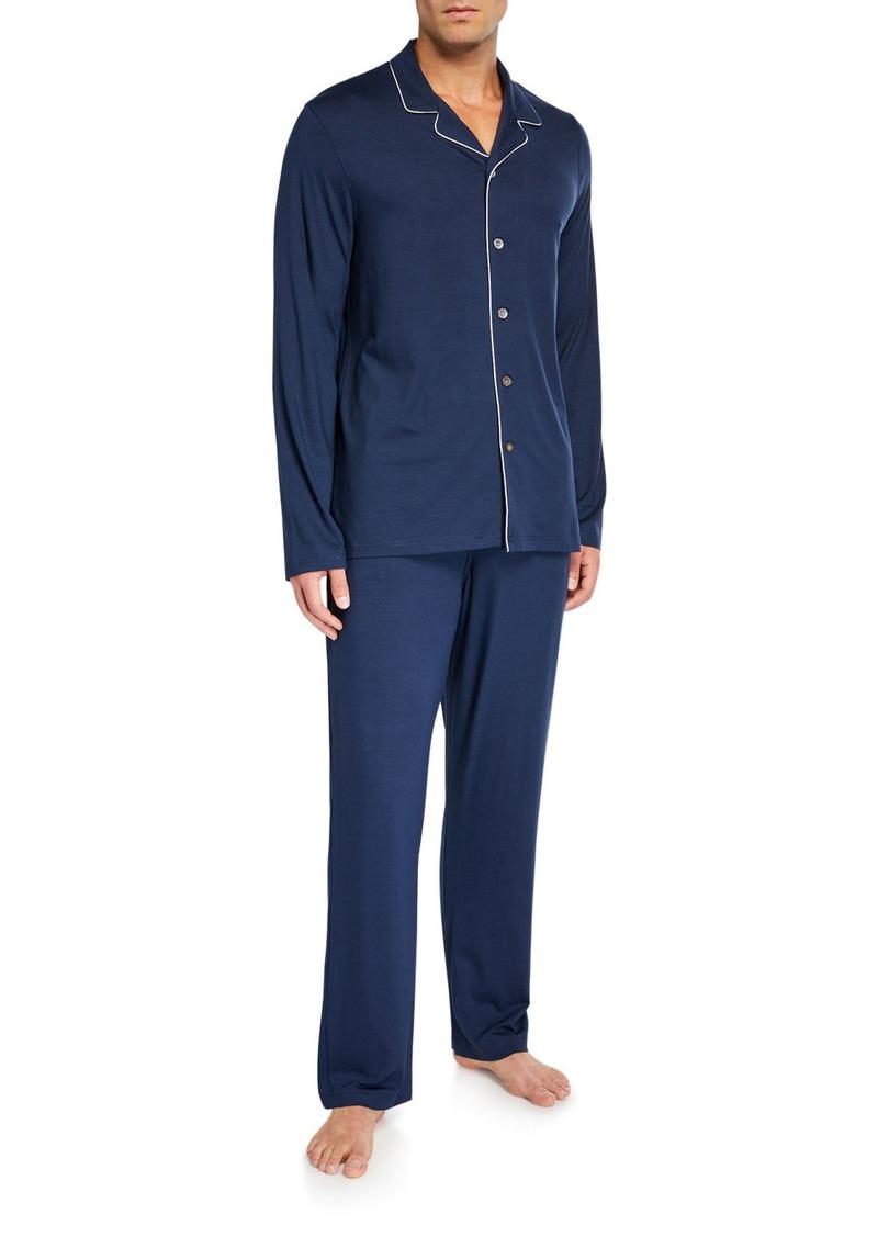 Derek Rose Men's Basel 1 Jersey Pajamas w/ Piping