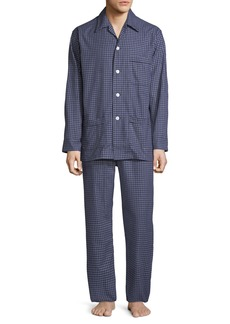 Derek Rose Men's Braemar 32 Check Cotton Pajamas