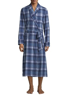 Derek Rose Men's Ranga 31 Long Plaid Cotton Robe