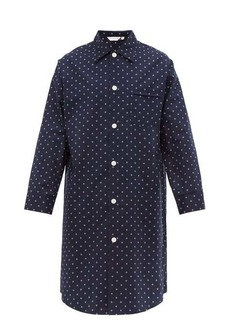Derek Rose Nelson geometric cotton-poplin pyjama shirt