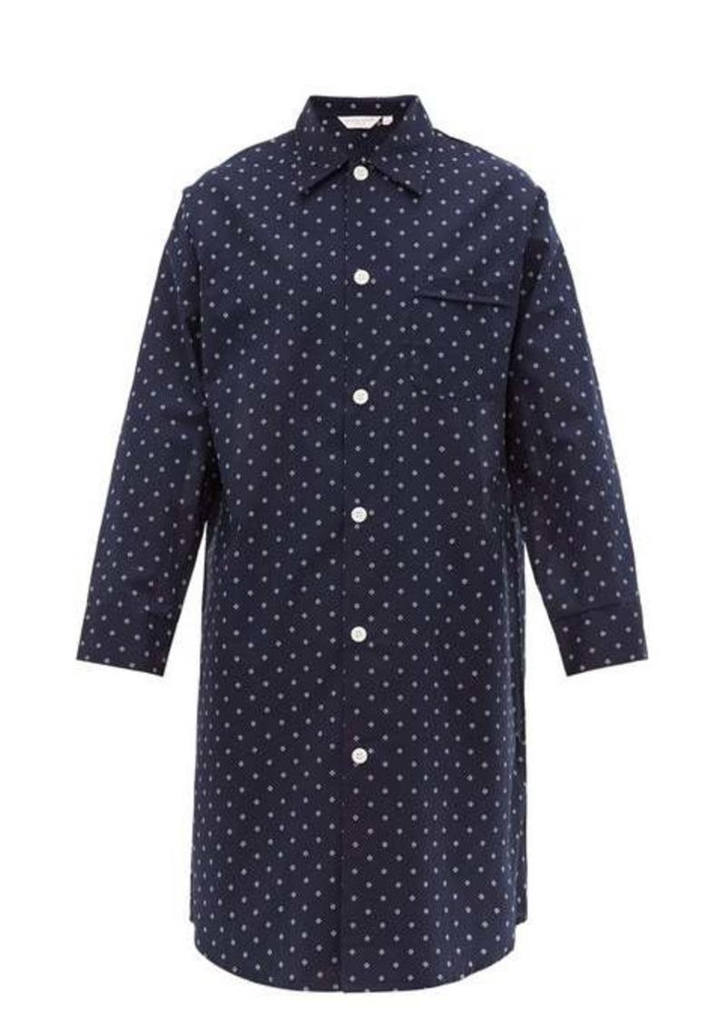 Derek Rose Nelson geometric cotton-poplin pyjama shirt