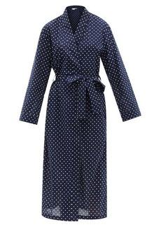 Derek Rose Plaza 60 polka-dot cotton-twill robe